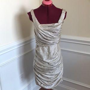 Express Gold Dress Sz 8